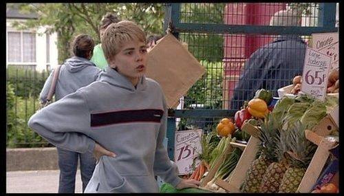 Peter on his dad's frutas n veg stall