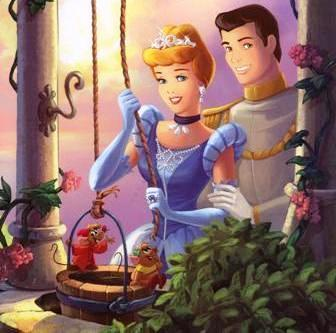 Princess Cinderella and prince Cartoon