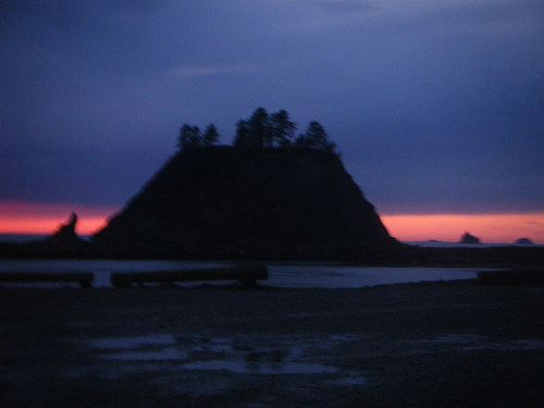 Quileute island sunset