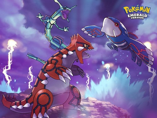 Dragon Type Pokemon Wallpaper Possibly Containing Anime Entitled Rayquaza Groudon Kyogre