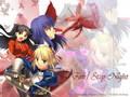 Saber, Rin and Sakura