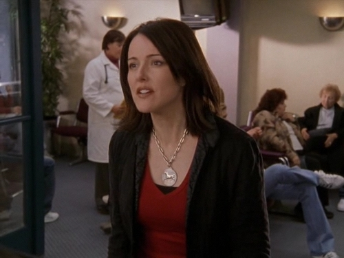 Christa Miller wallpaper possibly with a well dressed person and an outerwear called Scrubs - My Screw Up