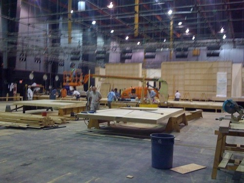 Season 7 new sets being built