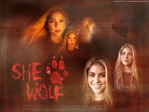 Shakira wallpaper titled She Wolf.