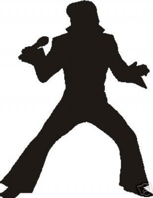 Elvis Presley Hintergrund possibly containing a hip boot titled Silhouette