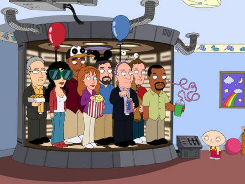 TNG Cast on Family Guy