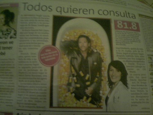 TV sexiest characters (mexican newspaper article)
