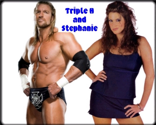 Triple H and Stephanie
