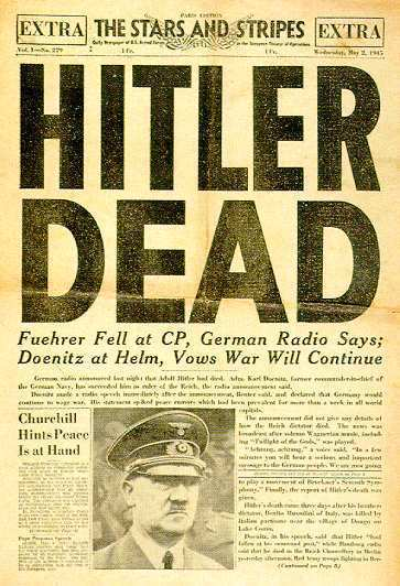 WW2 Newspaper Cover 1945