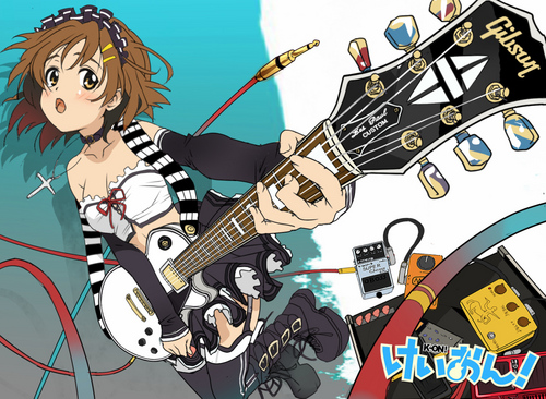K-ON! wallpaper containing anime called Yui