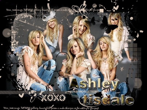 Ashley Tisdale Hintergrund probably containing a sign titled ash