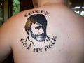 chuck's got my back - chuck-norris photo