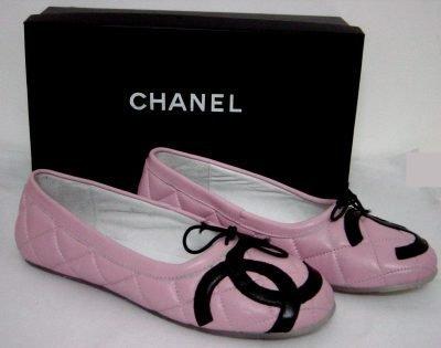 cute chanel pink ballet flats!