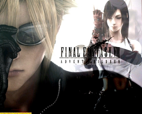 Final Fantasy VII پیپر وال possibly with sunglasses, a sign, and a business suit titled final fantasy 7