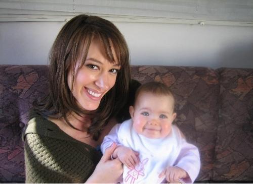 haylie on set of 7th heaven