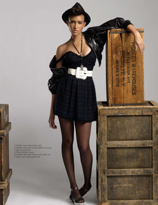 Antm winners پیپر وال containing a packing box and a hip boot entitled naima-mora-