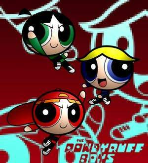 Powerpuff Girls and Rowdyruff Boys achtergrond containing anime entitled rrb3