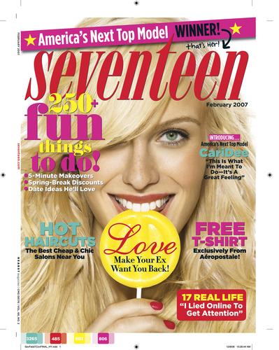 Antm winners پیپر وال titled seventeen cover