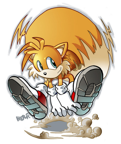 "Miles ""Tails"" Prower wallpaper entitled tails 2009 !"