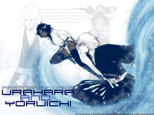 animê bleach wallpaper possibly with a sign titled yoruichi