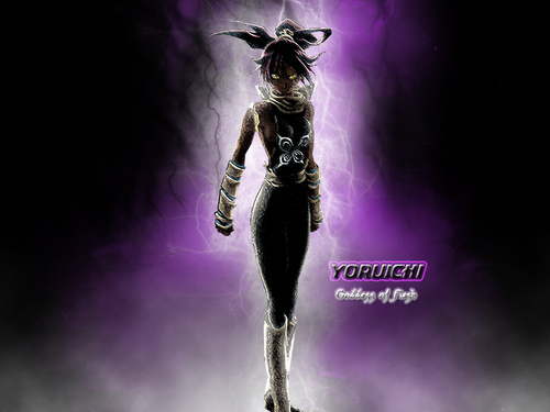 블리치 아니메 바탕화면 probably with a hip boot called yoruichi