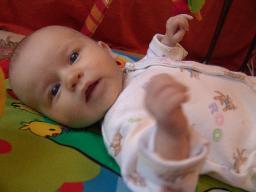 A newborn girl