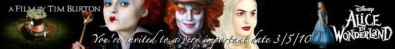 Alice in Wonderland, banner suggestion - alice-in-wonderland-2010 fan art