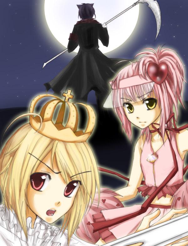 Amu, Ikuto and Tadase - shugo-chara fan art