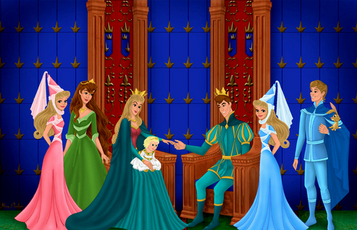 Princesses Disney fond d'écran called Aurora's Family