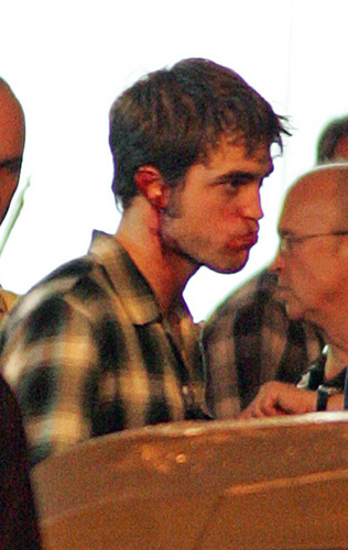 Bloody Rob On The Set Of Remember Me
