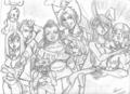 DJxHeather series (pencils) - total-drama-island fan art