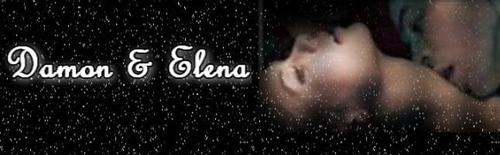 Damon & Elena images Damon & Elena Banner wallpaper and background photos