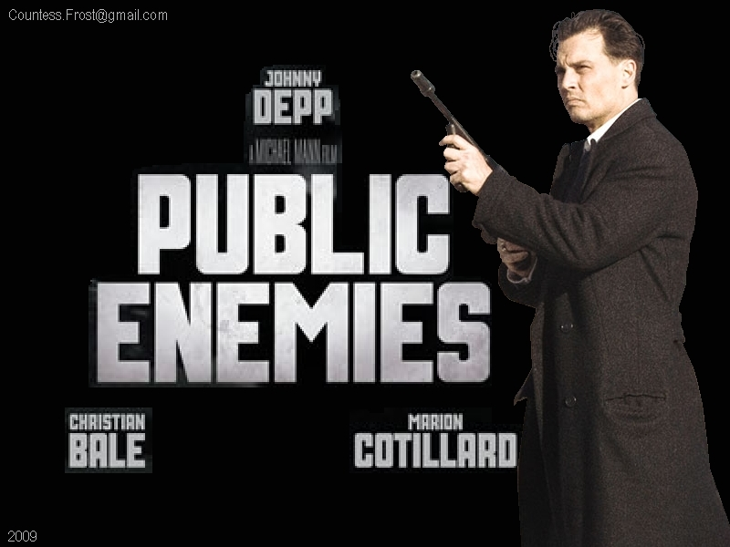 Public Enemies Images Dillinger With His Thompson Hd Wallpaper And