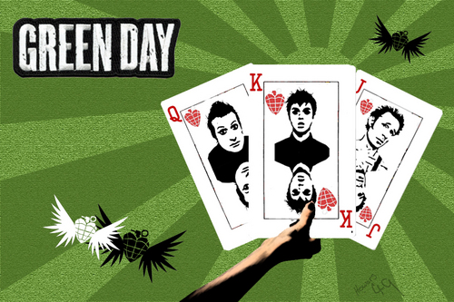 Green Day wallpaper possibly containing anime titled Greenday wall paper