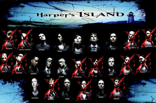 Harper's Island wallpaper possibly containing a sign called Harper's Island Cast (Dead) week 10
