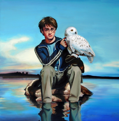 Harry Potter fond d'écran entitled Harry with Hedwig