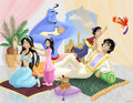 Jasmine and Aladdin Family - disney-couples fan art