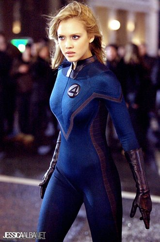 Jessica Alba wallpaper possibly containing tights, a hip boot, and a well dressed person titled Jessica in Fantastic Four