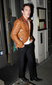Jonathan Rhys Meyers out at Bang Cafe with TV presenter Katie Larmour