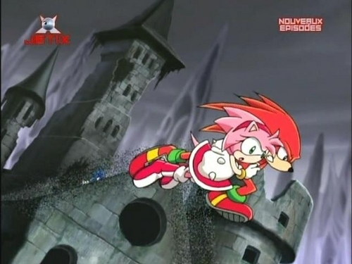 Knuckles and a girl dat will make Rouge angry!!
