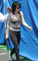 Kristen on set of The Runaways - twilight-series photo