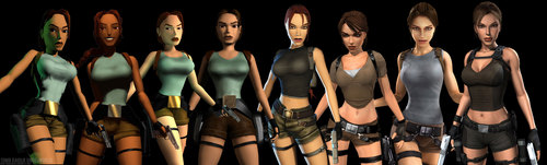 Tomb Raider wallpaper possibly with a spatula called Lara Croft evolution