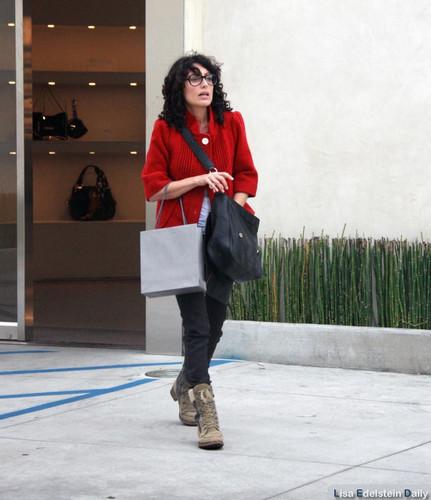 Lisa Edelstein leaving the Alexander McQueen boutique in LA