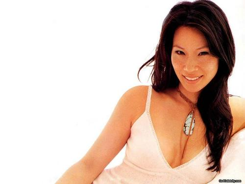 lucy liu wallpaper probably with attractiveness and a portrait entitled Lucy Liu