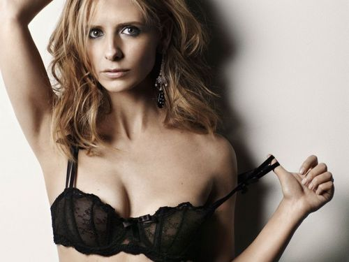 Buffy the Vampire Slayer wallpaper probably containing attractiveness, a brassiere, and a lingerie titled Maxim photoshoot