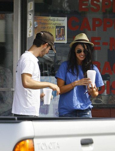 Megan & Shia Grabbing Coffee