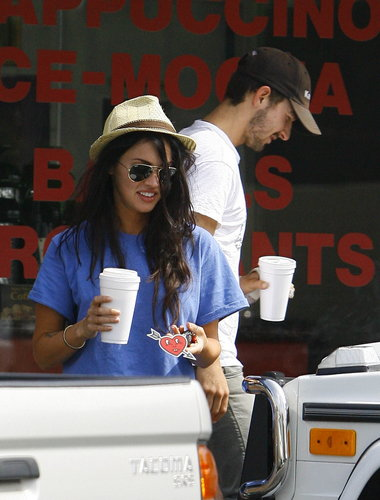 Megan & Shia Grabbing Coffee