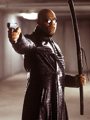 The Matrix wallpaper probably with a machete entitled Morpheus