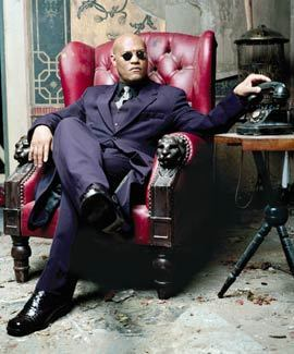 The Matrix wallpaper with a drawing room entitled Morpheus