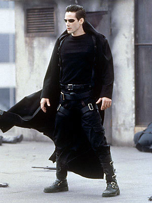 The Matrix 壁紙 with a business suit, a hip boot, and a well dressed person called Neo